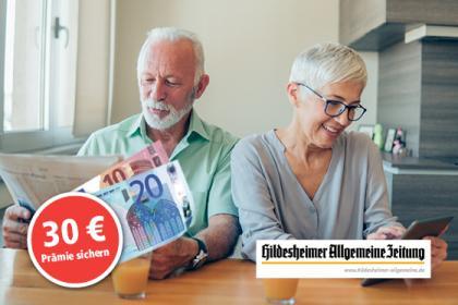 Abo bestellen und Geldprämie sichern!